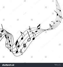 illustration music songs notes melodies on stock vector 361389557