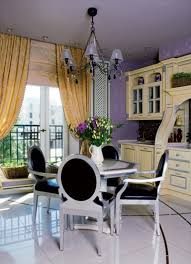 Decorating With Plum Traditional And Art Deco Apartment With Lilac And Plum Violet