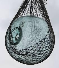 glass fishing float pendant light vintage glass fishing float w netting fisherman marine roped buoy