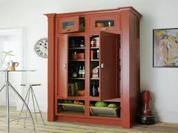Kitchen Pantry Idea by Red Kitchen Pantry Cabinet Bar Cabinet