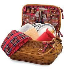 Picnic Basket Set For 4 Highlander Picnic Basket