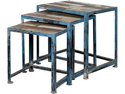 Distressed Wood End Table Coast To Coast Imports Occasional Accents Three Reclaimed Wood