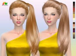 the sims 4 cc hair ponytail butterflysims side ponytail hair 164 sims 4 hairs http