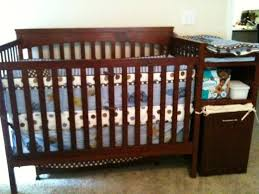 Convertible Cribs Cheap by Modern Crib With Changing Table Attached Designs Decoration