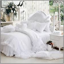 White Ruffled Comforter White Ruffle Bedding Ruffled Linen Duvet Cover With Ties Softened