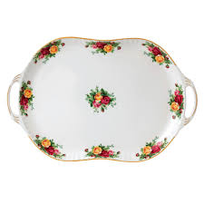 old country roses handled serving platter royal albert us