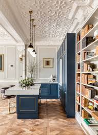 bespoke kitchen parquet flooring breakfast bar barstool