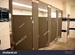 Bathroom Stall Door Public Bathroom Stalls Four Open Brown Stock Photo 528025276