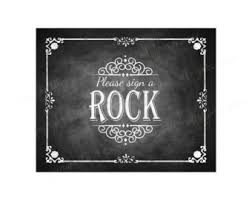 signing rocks wedding guest book printable chalkboard wedding favors sign wedding gifts