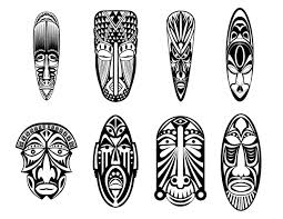 12 african masks africa coloring pages for adults justcolor