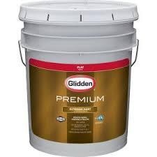 glidden premium 5 gal flat latex exterior paint gl6111 05 the