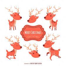 christmas deer christmas deer illustration set vector