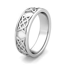 celtic mens wedding bands mens celtic wedding band in platinum comfort fit wedding ring