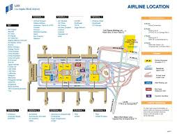 lax gate map lax map of terminals my
