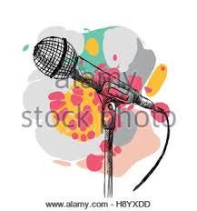 cartoon retro microphone voice stock vector art u0026 illustration