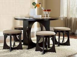 kitchen small table black round dining sets for room apartments