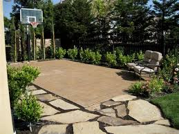Build A Basketball Court In Backyard Paver Basketball Court Houzz