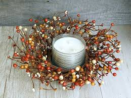 12 rustic primitive wreath country berry candle wreath