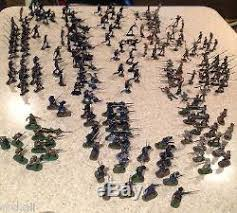 200 figure marx civil war painted toy soldier lot union