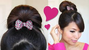 1 minute perfect fan bun updo hairstyle hair tutorial youtube