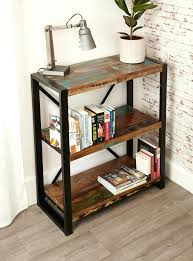 Long Low Bookcase Wood Bookcase Modern Industrial Bookcase Photos Industrial Modern