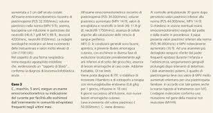 leucociti a tappeto area pediatrica la trombocitopenia immune in et罌 pediatrica