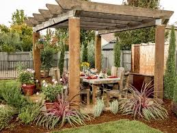 pergola with trellis rustic patio with pathway u0026 fence zillow digs zillow