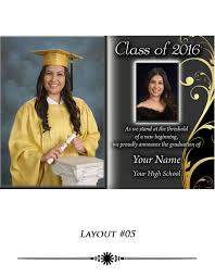 graduation photo announcements graduation announcements sanford studios