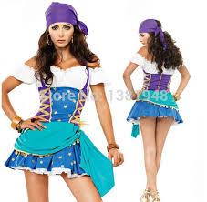 Fortune Teller Halloween Costume Halloween Costume Women Blue White Gypsy Fortune Teller