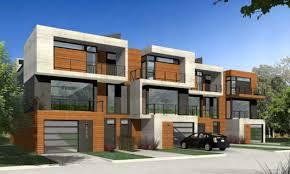 plans modern townhouse plans