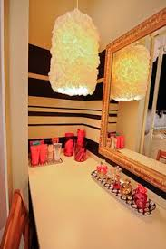 chabby chic corner makeup vanity closet converted into practical