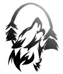 31 best wolf outline images on wolf tattoos