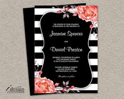 black and white striped wedding invitations 343 best printable wedding invitations and coordinated products
