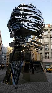 s pragu the matrix kafka s metal moving statue in prague david