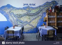 Canary Islands Map Map Of The Island In Restaurant Casa Africa In Almaciga Beach