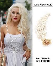 keratin tip extensions 613 white wave nail tip u tip 100 remy hair