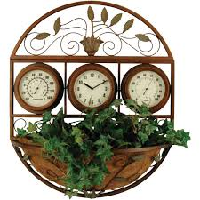 Woodard Outdoor Patio Furniture by Woodard Outdoor Wall Planter With Clock And Weather Gauges