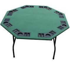 poker table with folding legs 52 octagon green felt poker table w folding steel legs texas