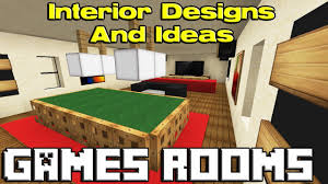 minecraft games room designs youtube