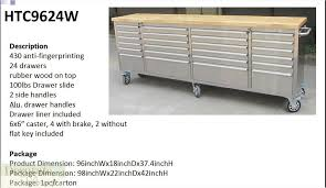 Rolling Tool Chest Work Bench 8 U0027 Mobil Tool Chest Workbench Stainless Steel Cart 24 Drawers