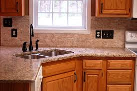 kitchen counter backsplash pictures of kitchen countertops and backsplashes travertine