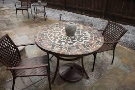 Mosaic Patio Tables Home Design Tiled Garden Tables Mosaic Patio Table And