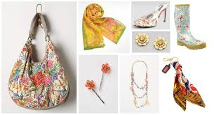 floral accessories floral dressed in orange