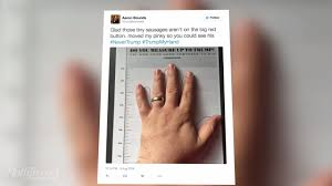 how small are trump u0027s hands compare to yours and find out