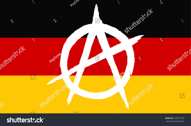What Colors Are The German Flag Germany Flag Grunge Sign Anarchy Vector Stock Vektorgrafik