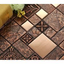 wholesale backsplash tile kitchen wholesale porcelain tiles square mosaic tile design metal tile