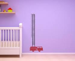 Fire Truck Fireman Firefighter Metric Or Standard Inches Growth - Firefighter kids room