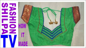 how to make designer blouse at home neck designs blouse