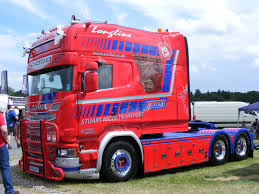 volvo trucks uk snt scania longline stuart nicol transport malvern truck show