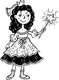 princess wand coloring free printable coloring pages